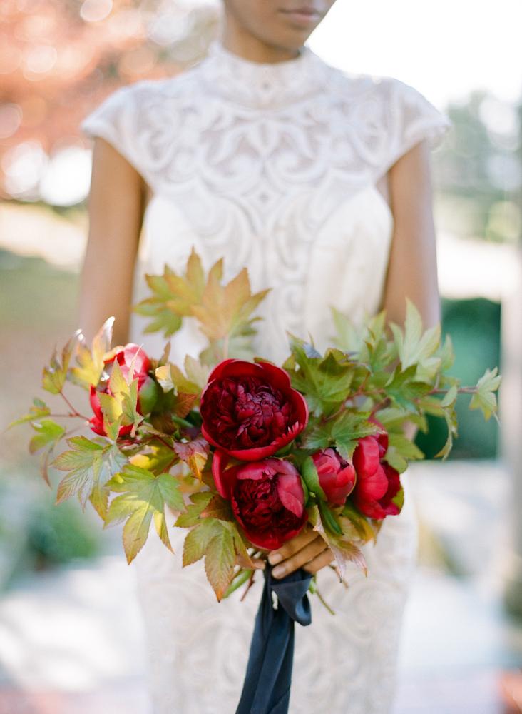 red wedding ideas rebecca yale bouquet