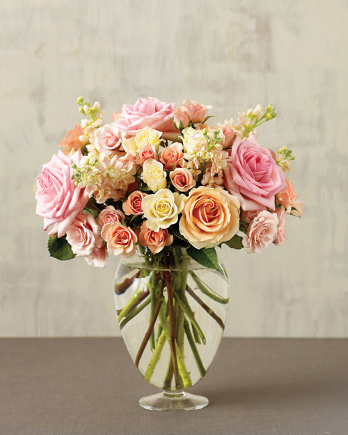Martha Stewart Mixed Rose & Stock Bouquet