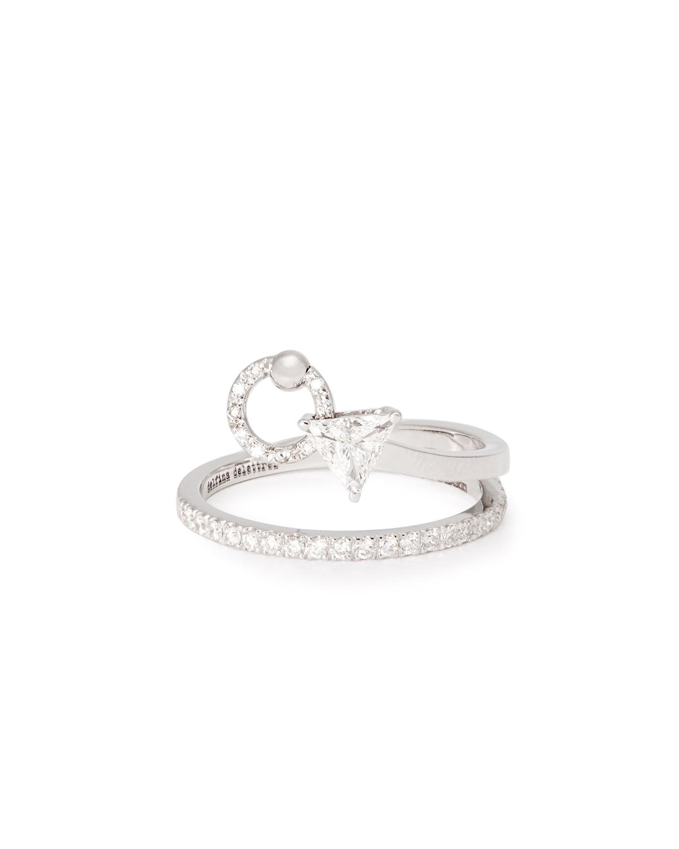 "Delfina Delettrez ""Marry Me"" 18-Karat White Gold and Diamond Ring"