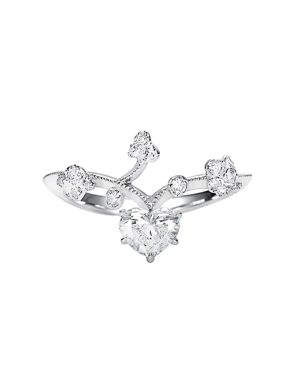 Kataoka Heart Diamond Vine Ring