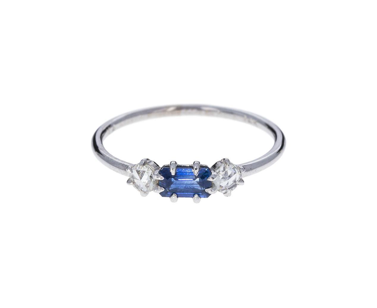 "Ila diamond sapphire ""Solana"" Ring"