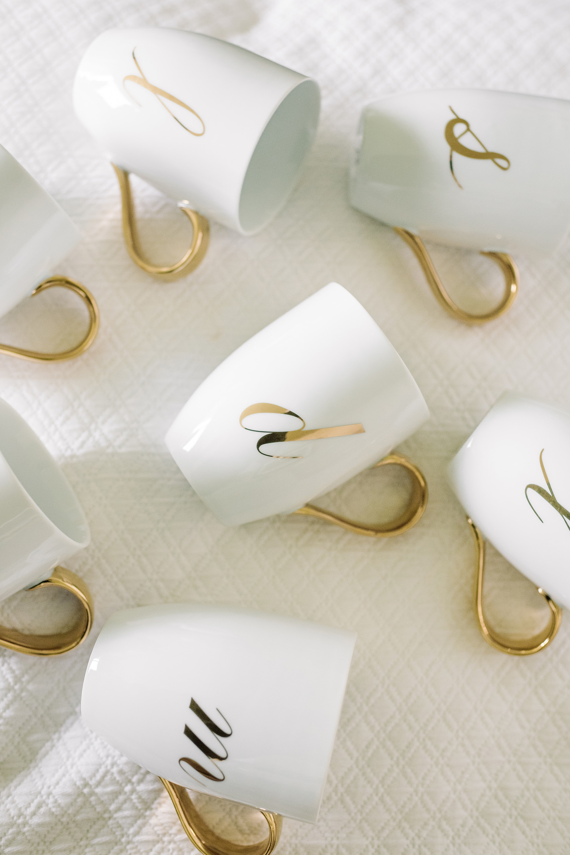 monogrammed coffee mug favors