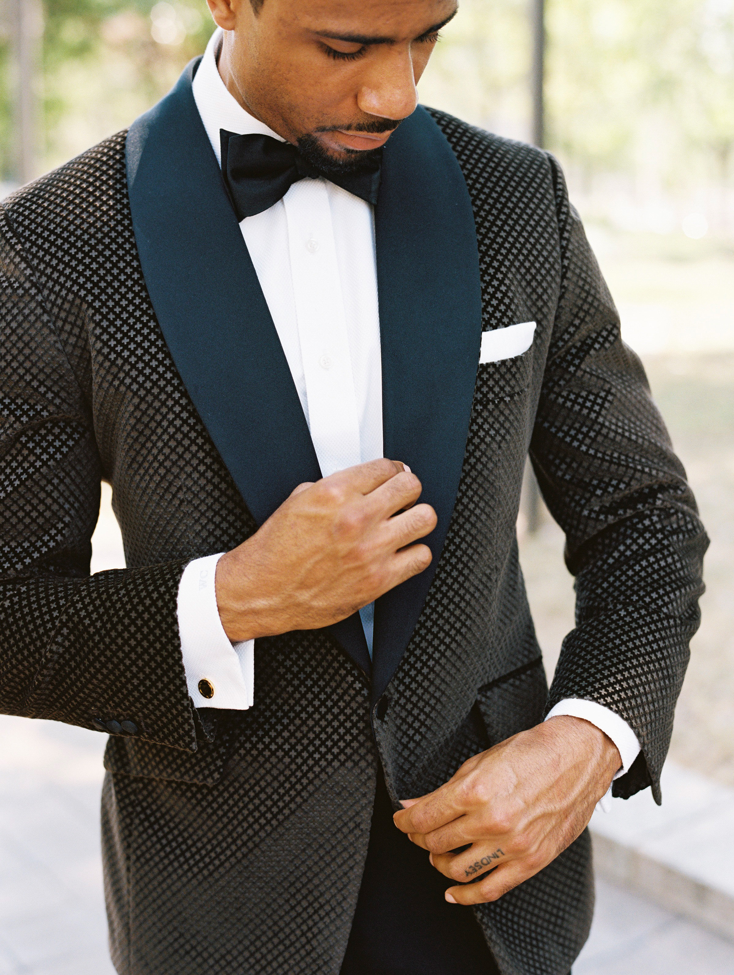 Black-and-Blue Tux