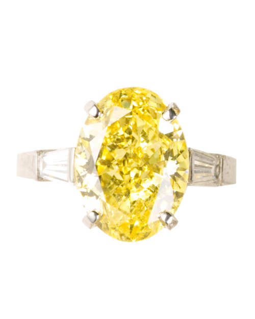 Oval-Cut Yellow Diamond Engagement Ring