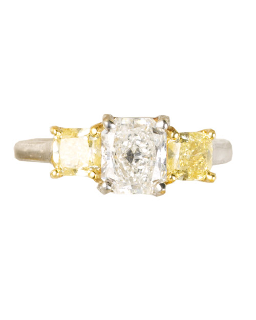Classic Yellow Diamond Engagement Ring