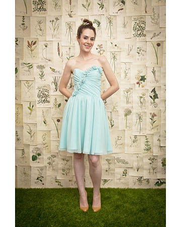 Pale Blue Strapless Dress