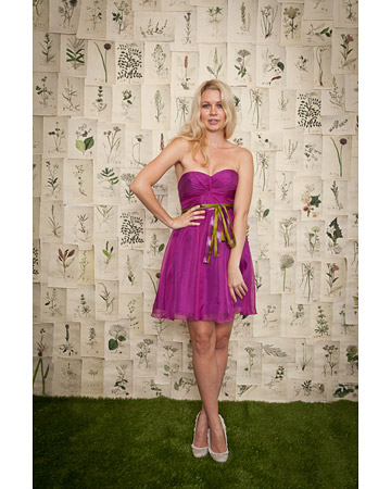 Fuchsia Short Strapless Dress