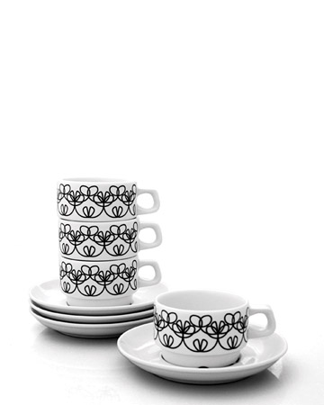 Ribbon Cup and Saucer