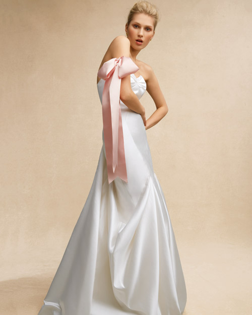 Wedding Dress with Ribbon Accessory