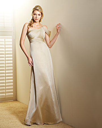Asymmetrical Champagne Dress