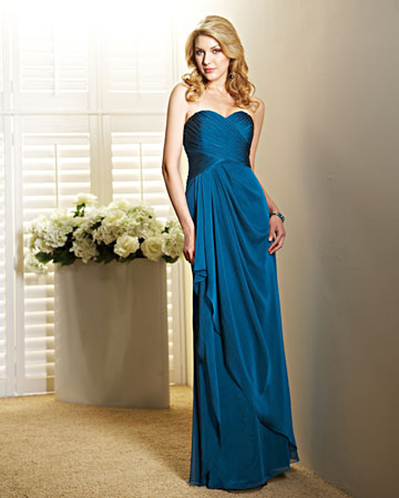 Deep Blue Strapless Dress
