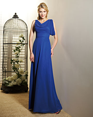 Long, Royal Blue Dress