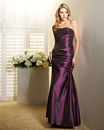 Purple, Strapless Dress