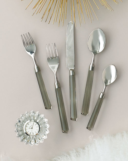 Flatware and Clock