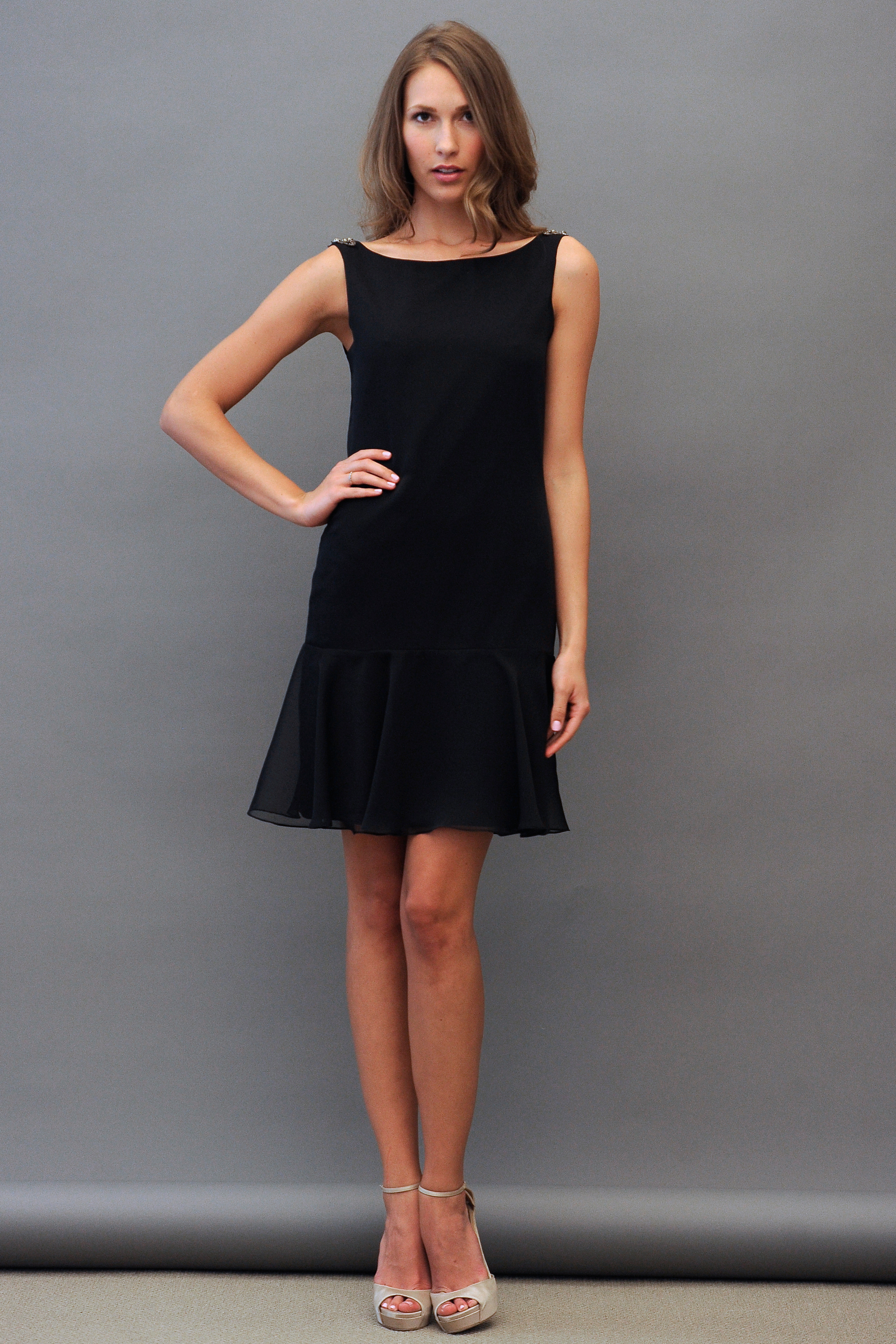 Short Black Bridesmad Dress