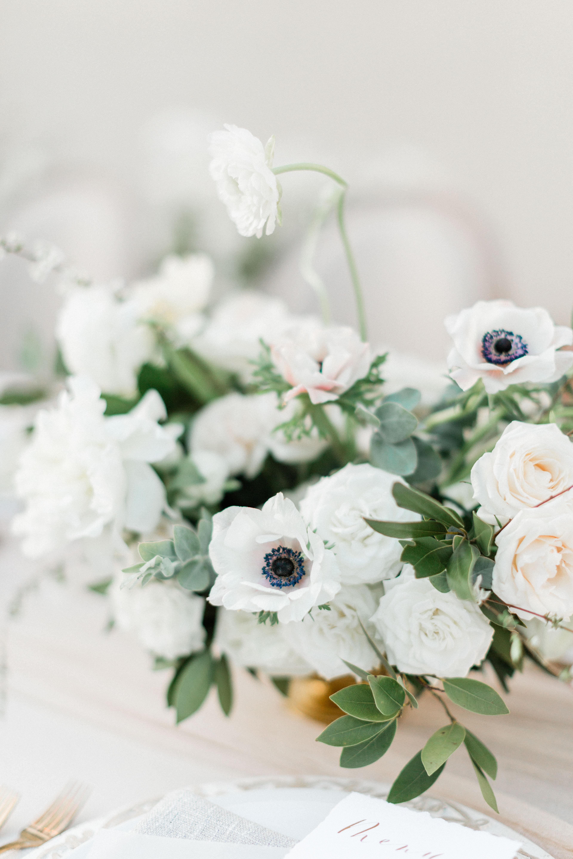 black white wedding centerpiece