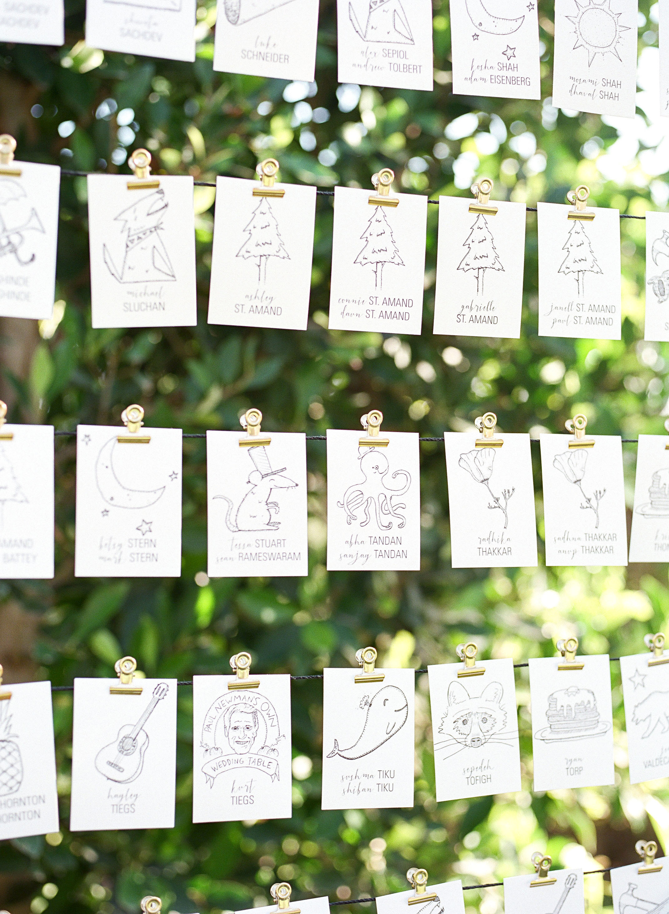 Insanely Creative Escort Cards and Seating Displays  Martha