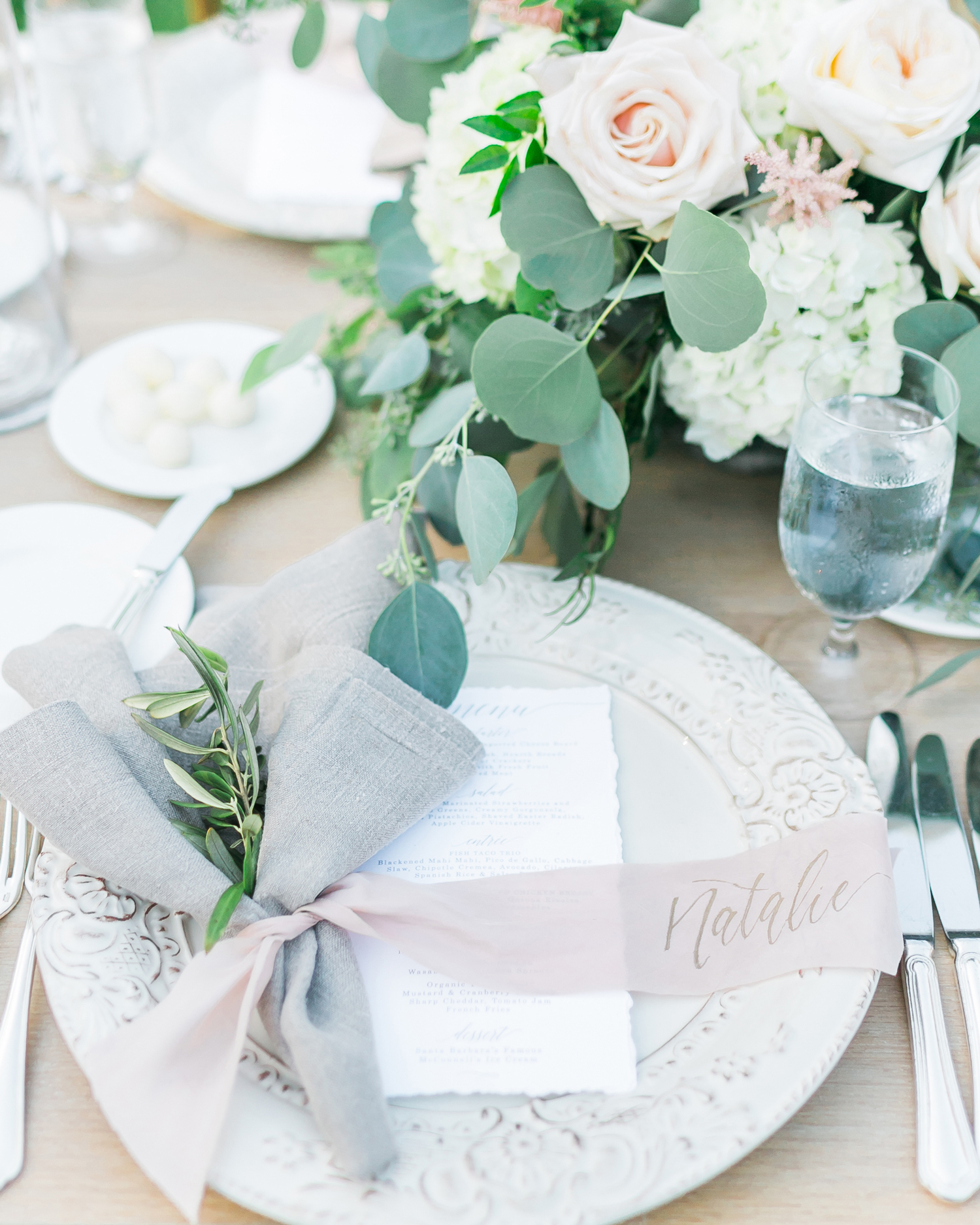 ribbon wedding ideas ribbon napkin ring and place card