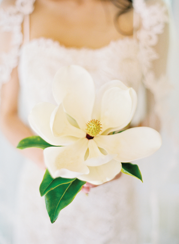 wedding bouquet with one flower