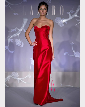 Red Strapless Long Dress