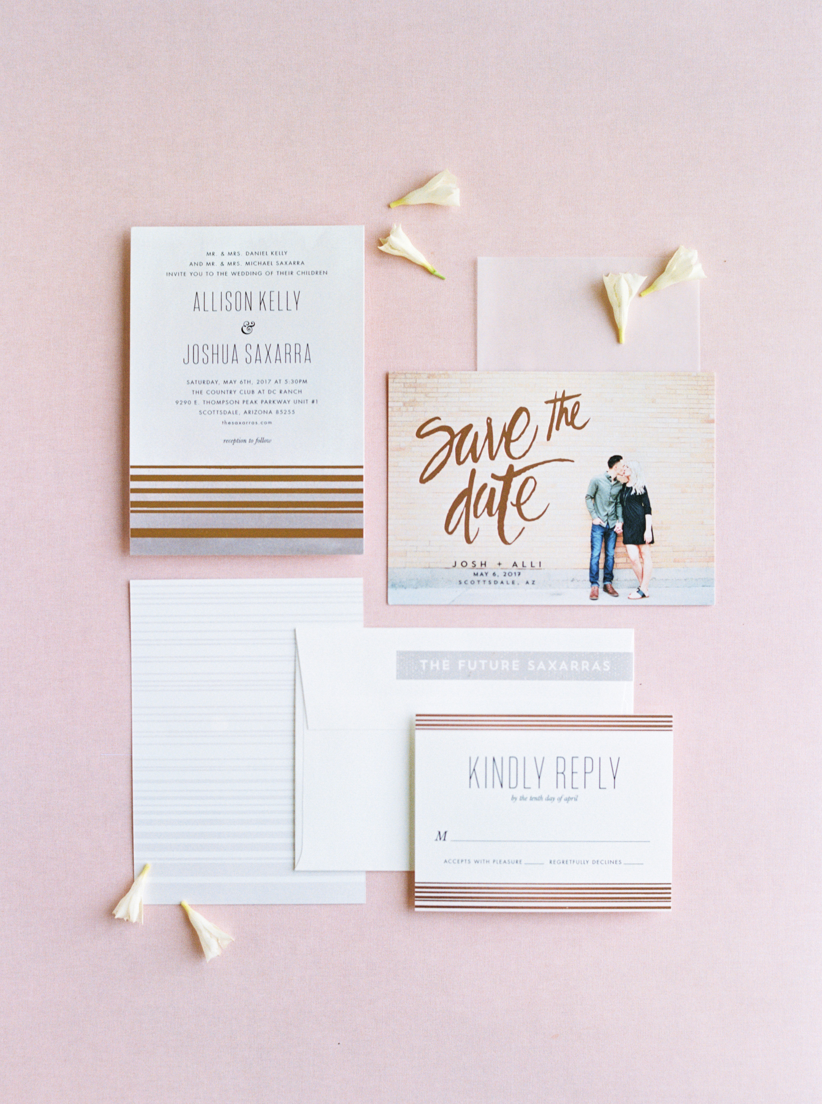 save the date stationery suite