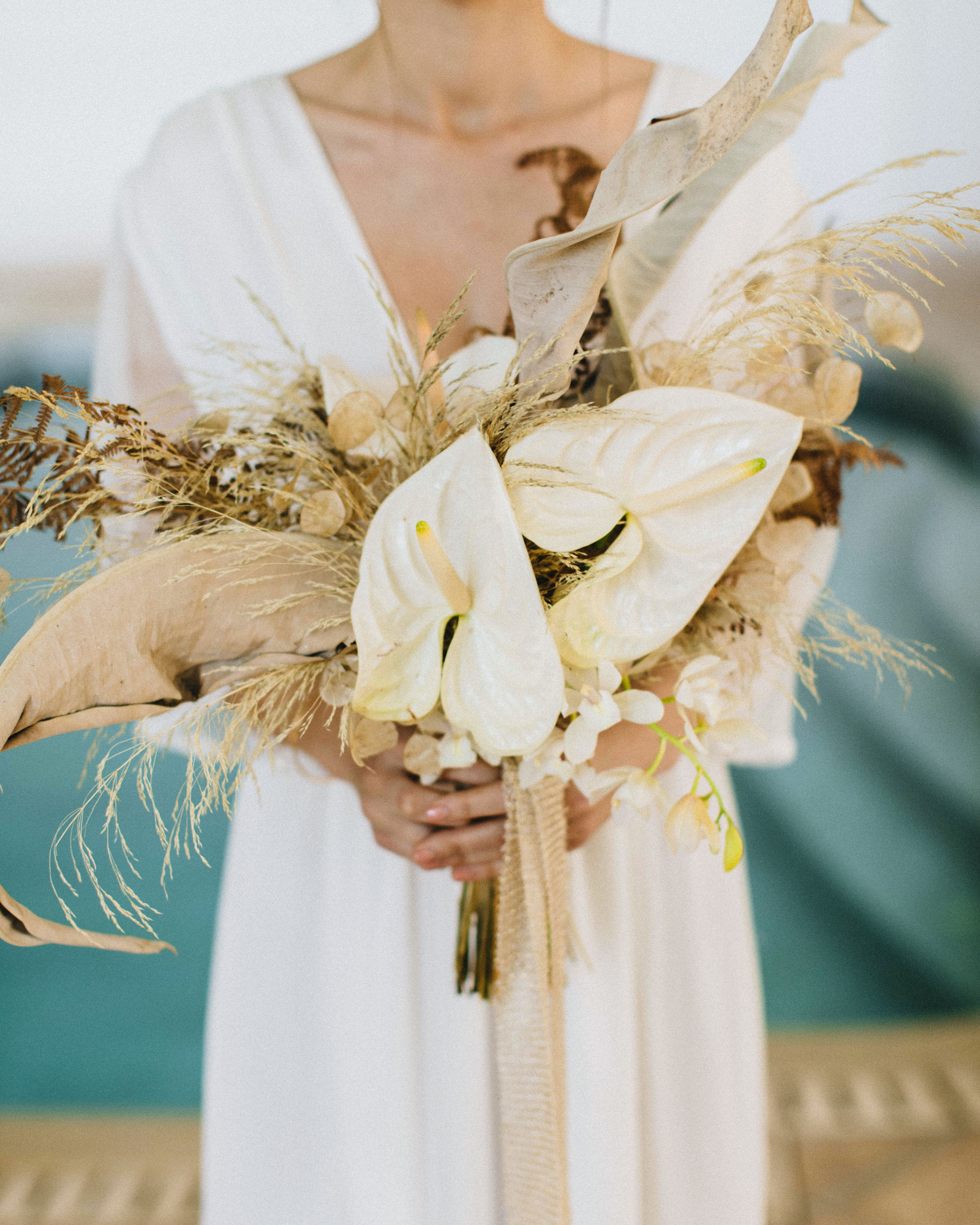 pampas grass ideas anthurium bouquet with pampas accents
