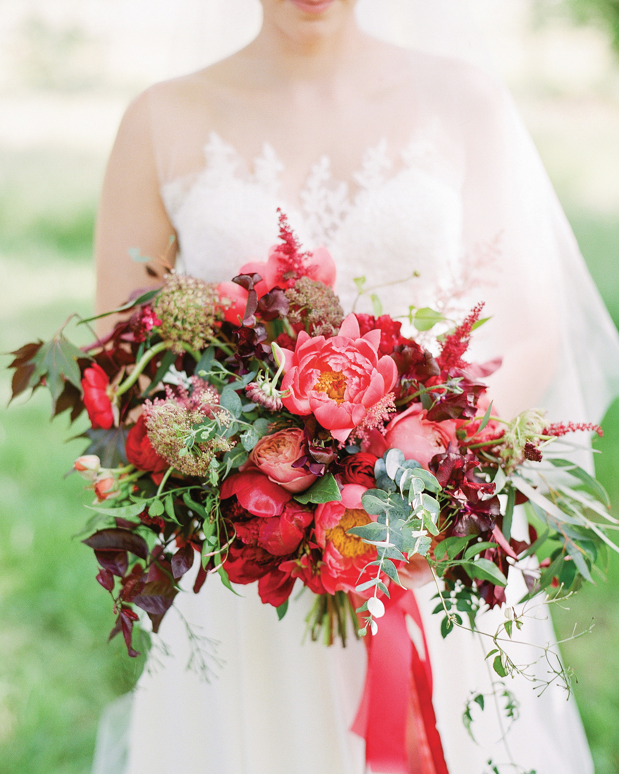 34 Romantic Red Wedding Bouquets Martha Stewart Weddings