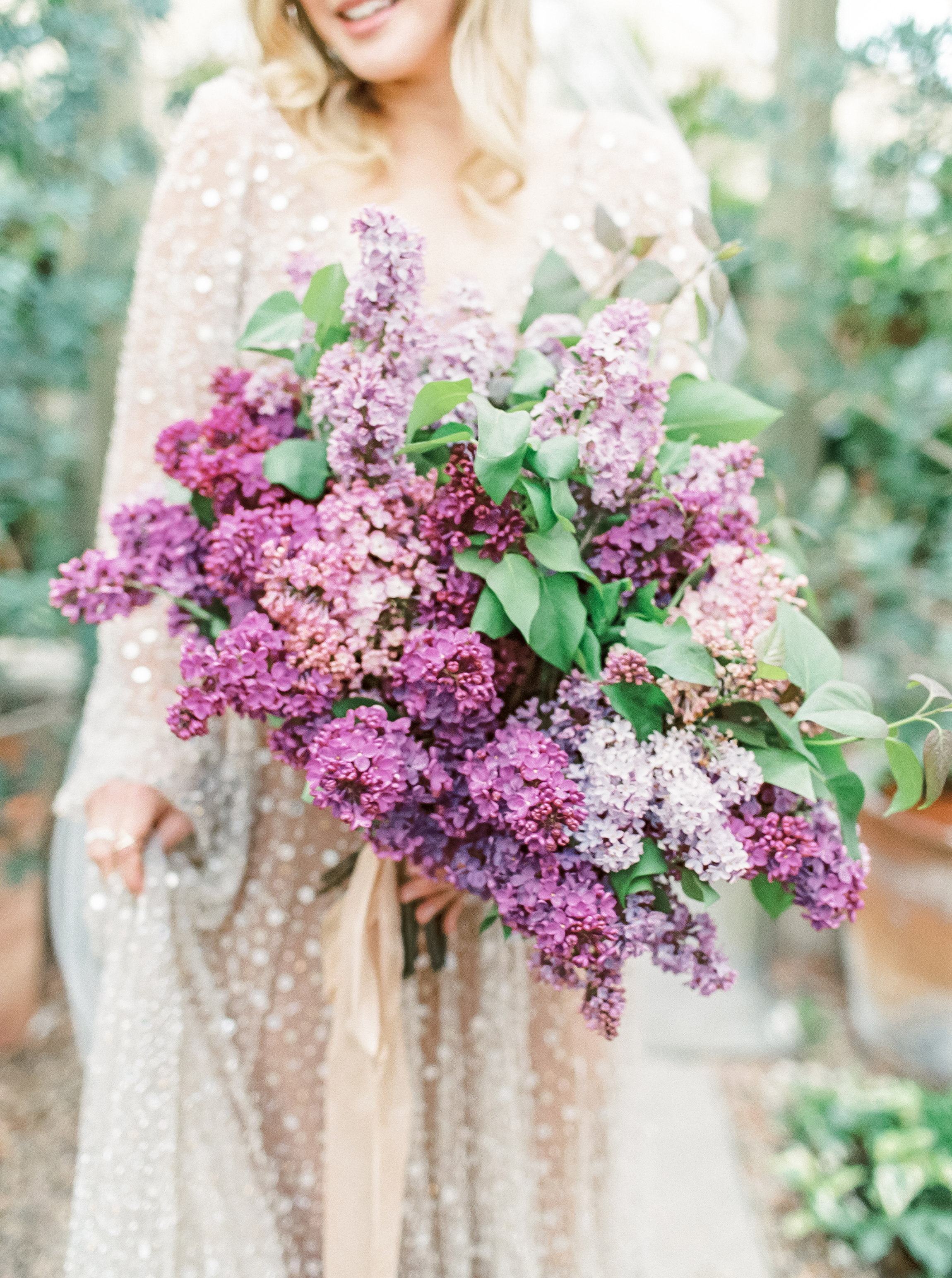 bouquet with lilacs
