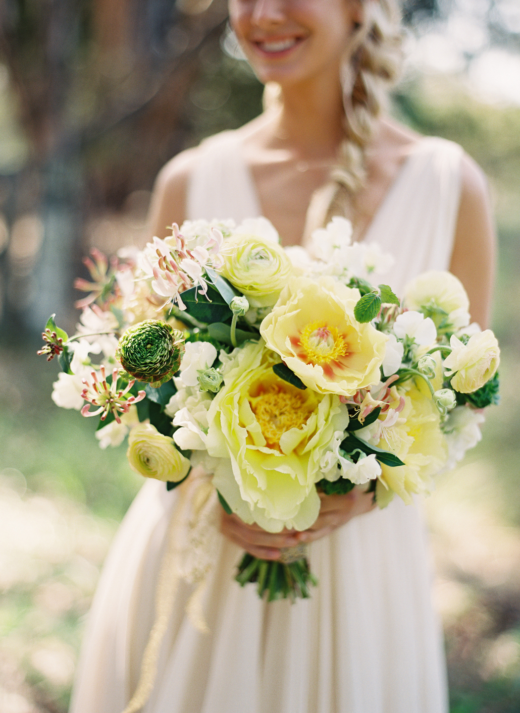 yellow statement blooms floral bouquet
