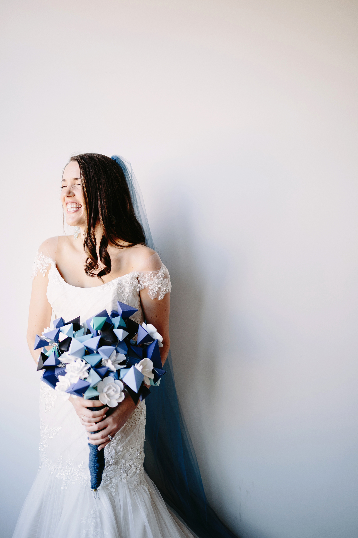 nonfloral wedding bouquets geometric clark brad and jen
