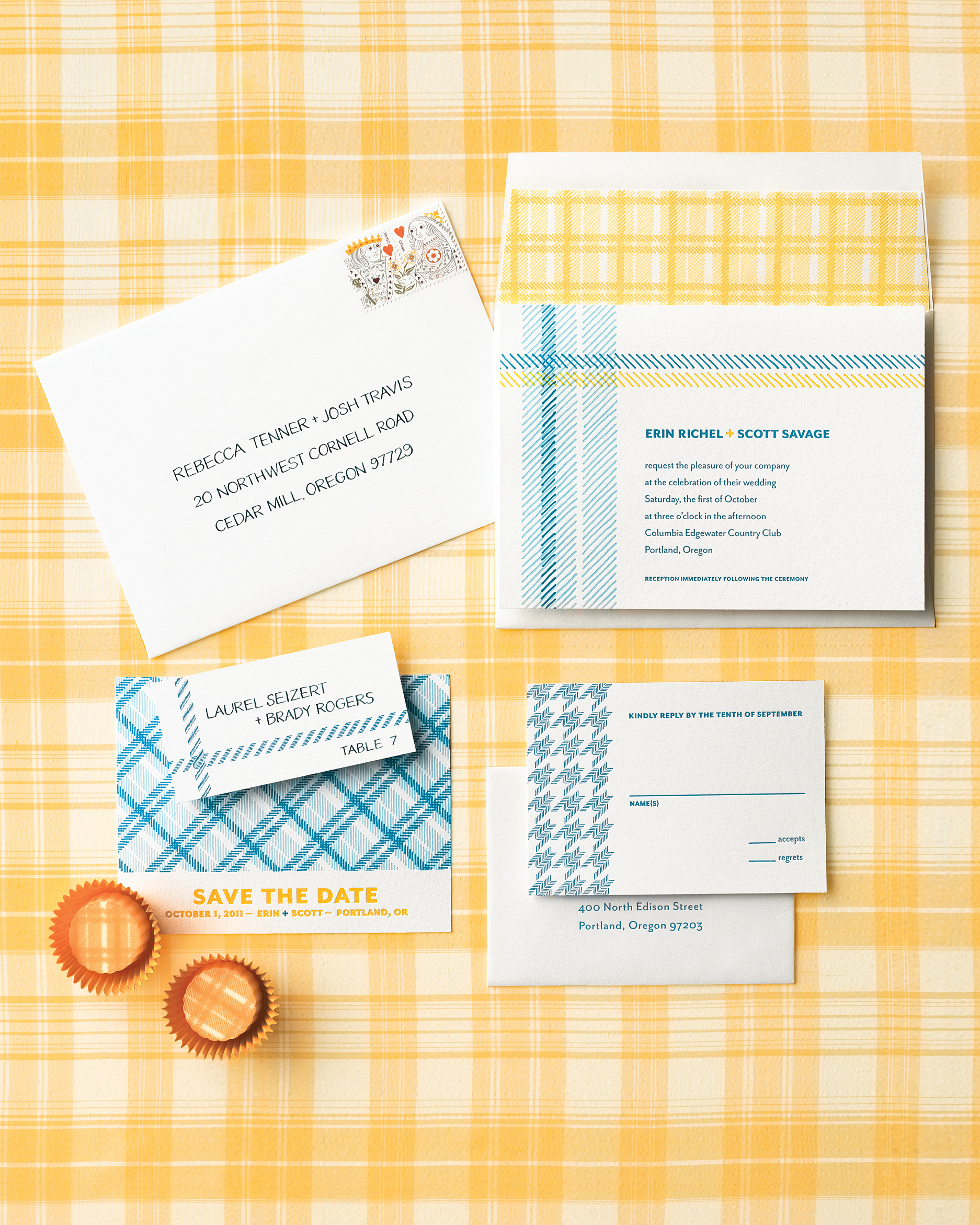 Playful Plaid Invitation