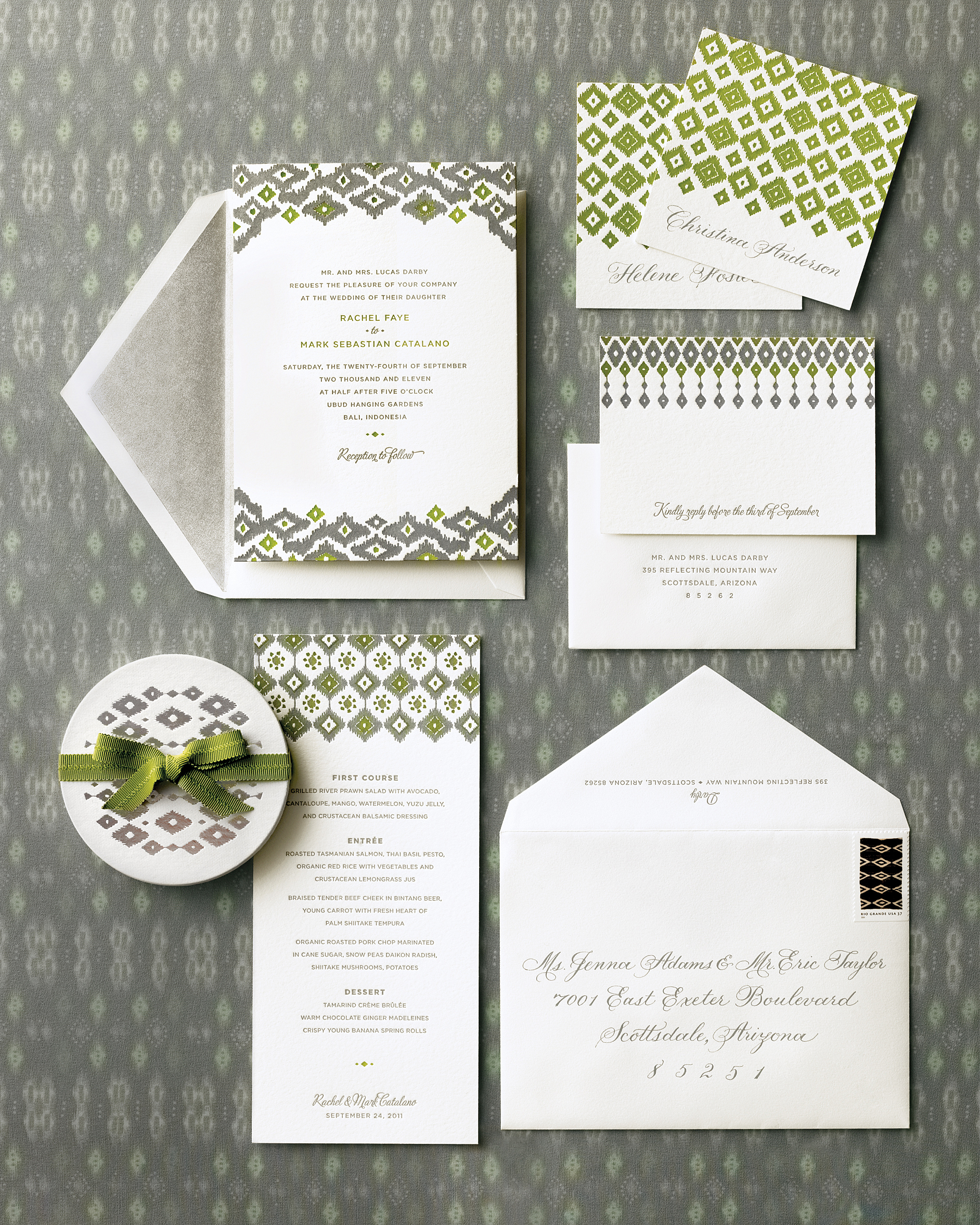 Ikat-Edged Invitation