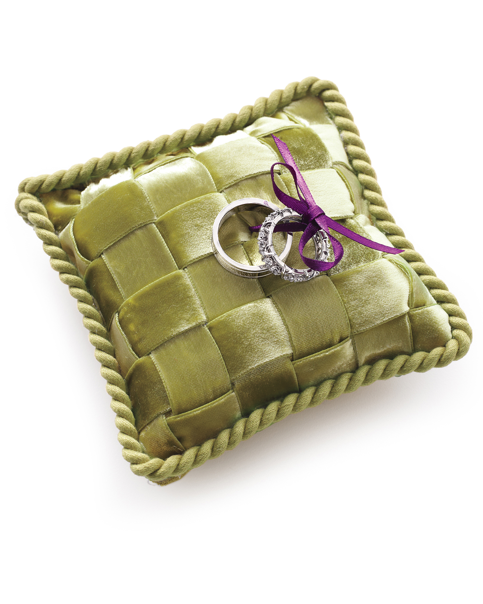 Woven Ribbon Ring Pillow