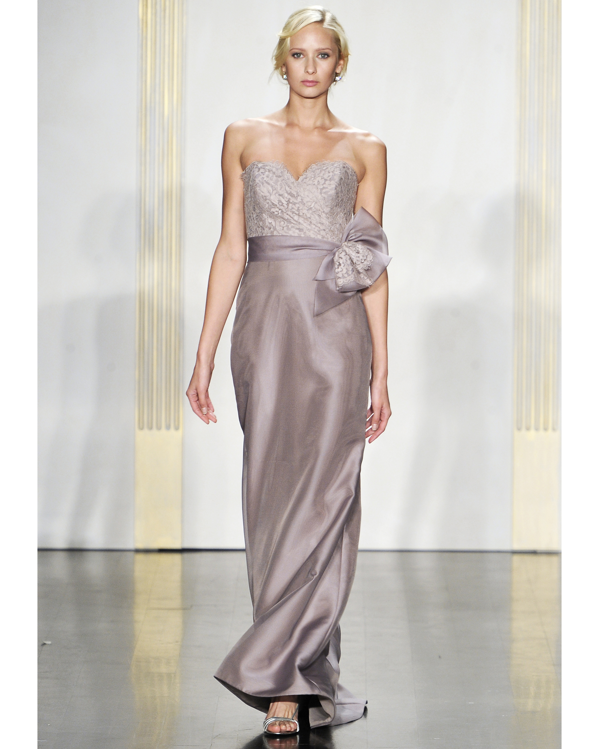 Long Mauve Bridesmaid Dress