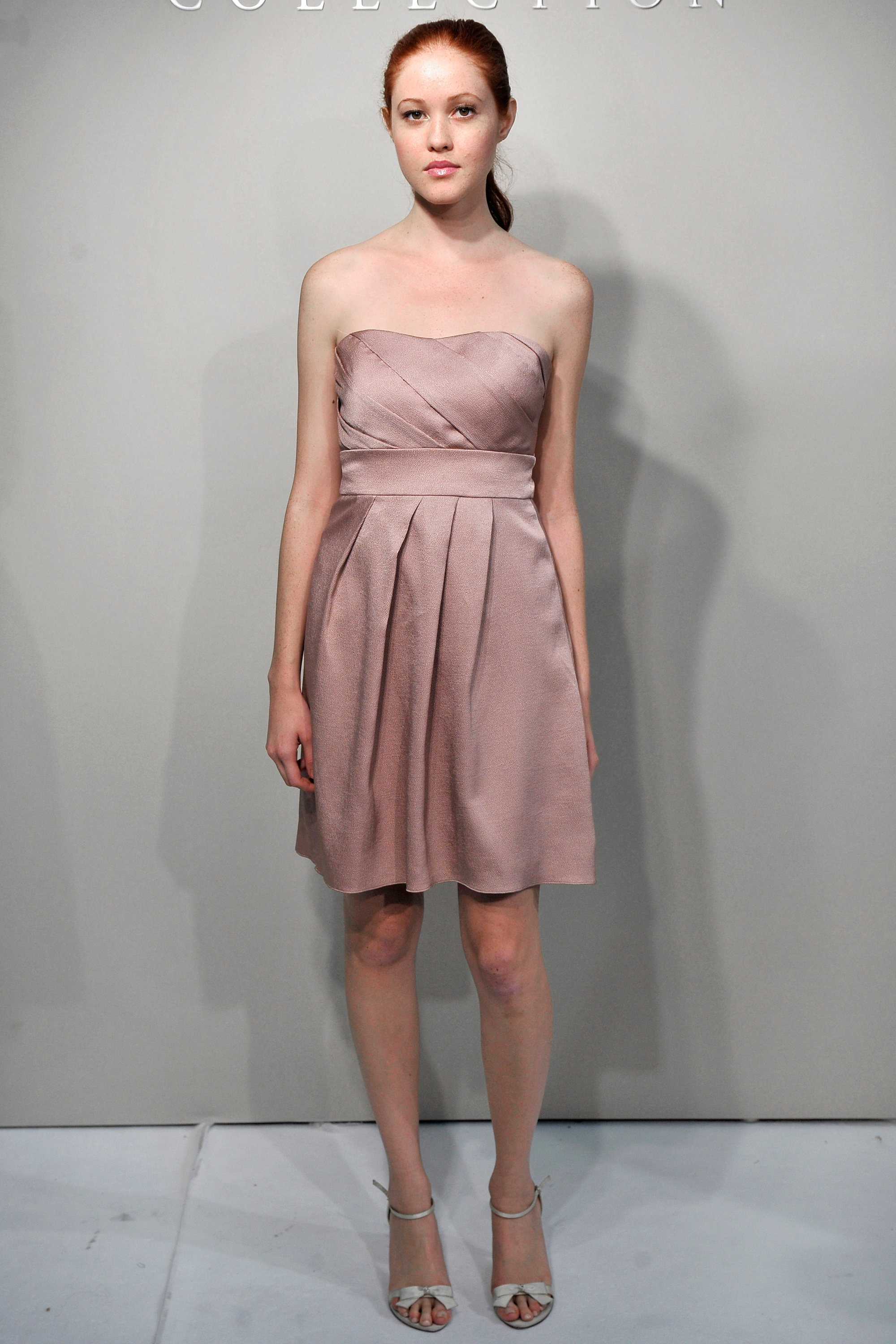 Short Mauve Bridesmaid Dress