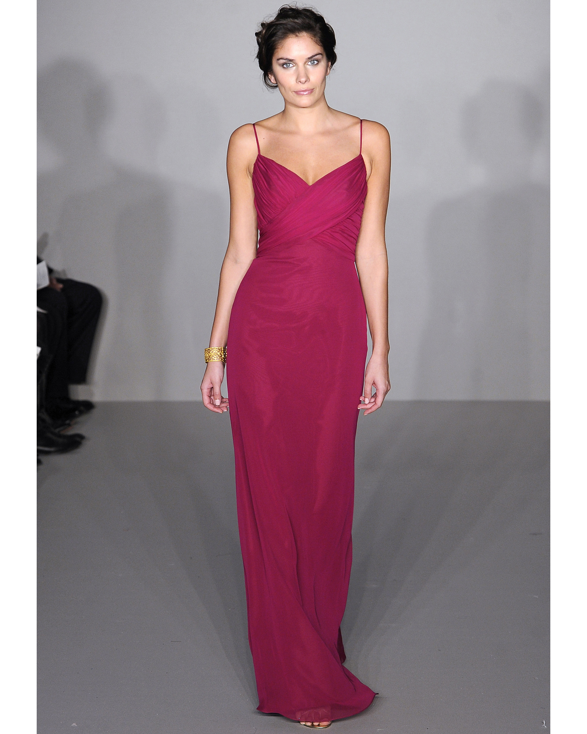 Long Fuschia Bridesmaid Dress