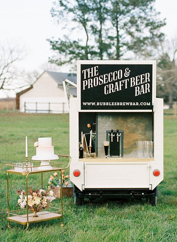 prosecco and craft beer bar truck