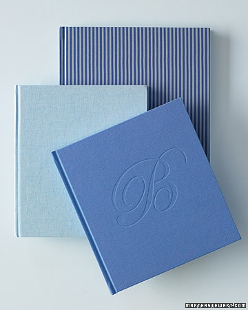 Blue and White Guest Books