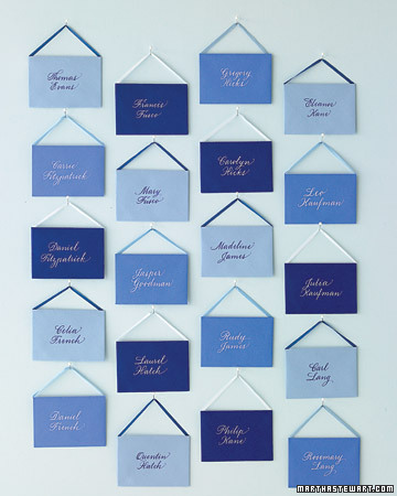 Blue Seating Cards