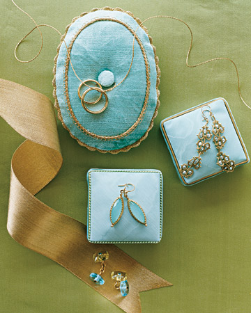 Gold and Aqua Jewelry
