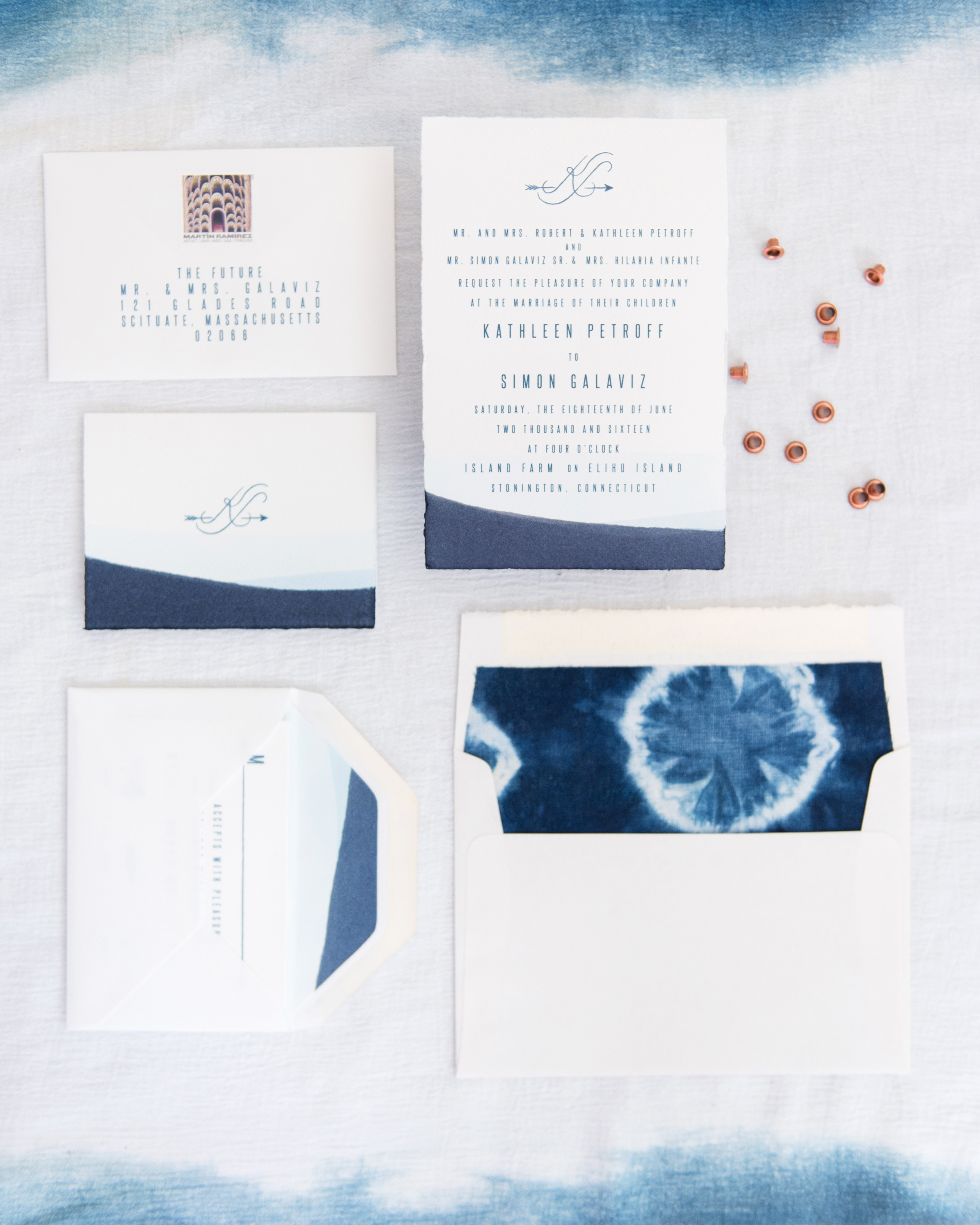 Dip-Dyed Invitations