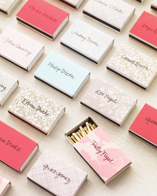 Matchbox Escort Cards