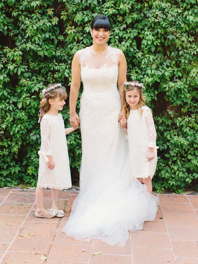 20f7dbb272 The Sweetest Lace Flower Girl Dresses | Martha Stewart Weddings