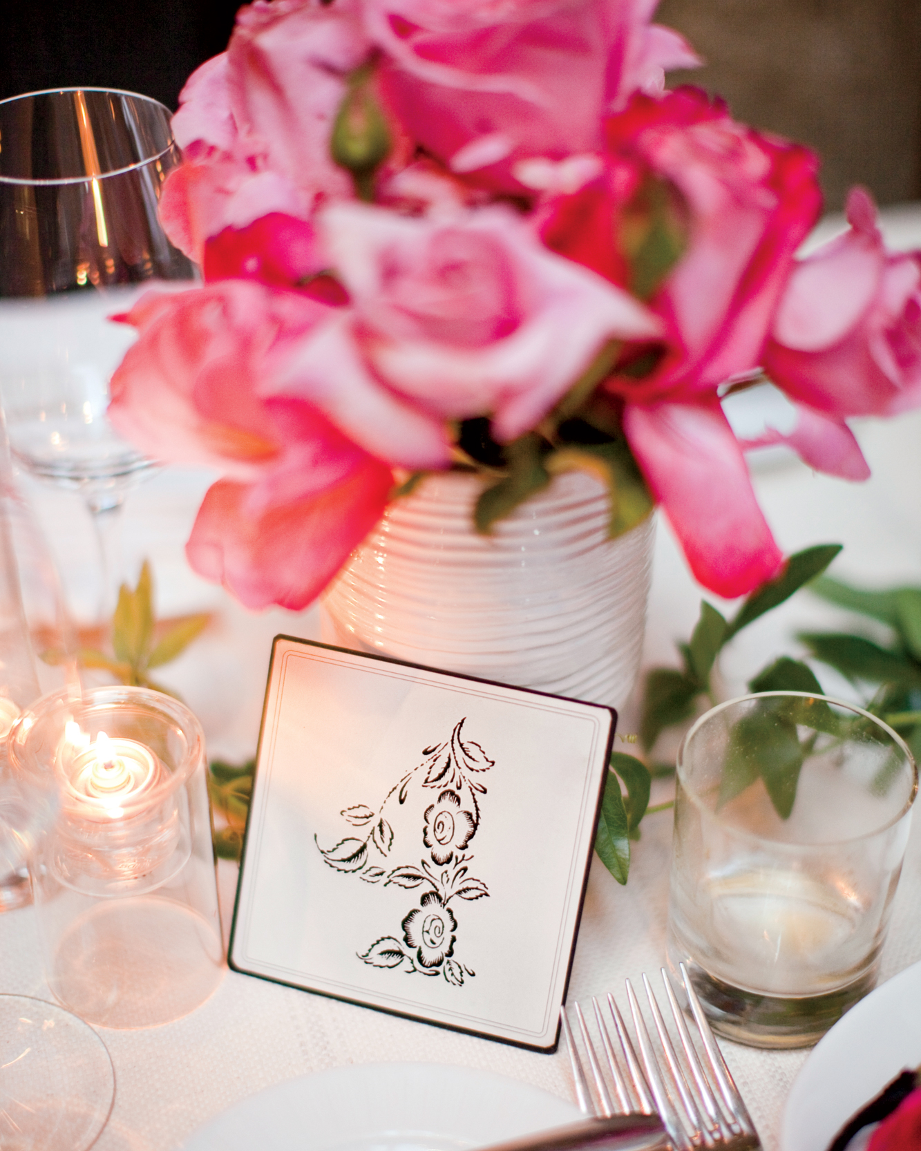 Floral Table Card