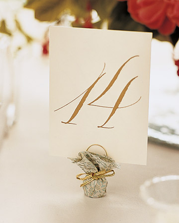 Formal Table Card
