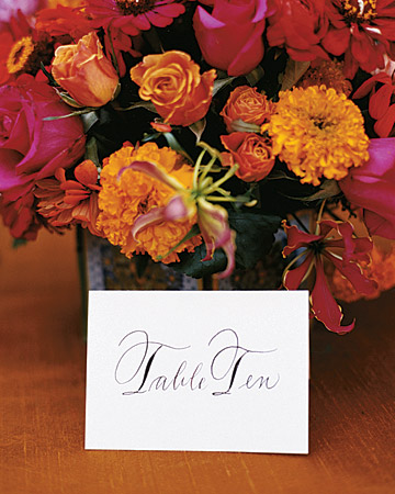 Calligraphed Table Card