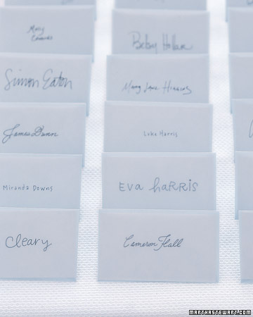 DIY Calligraphed Seating Cards