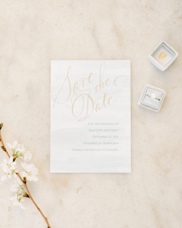 classic save the dates elegant font shine