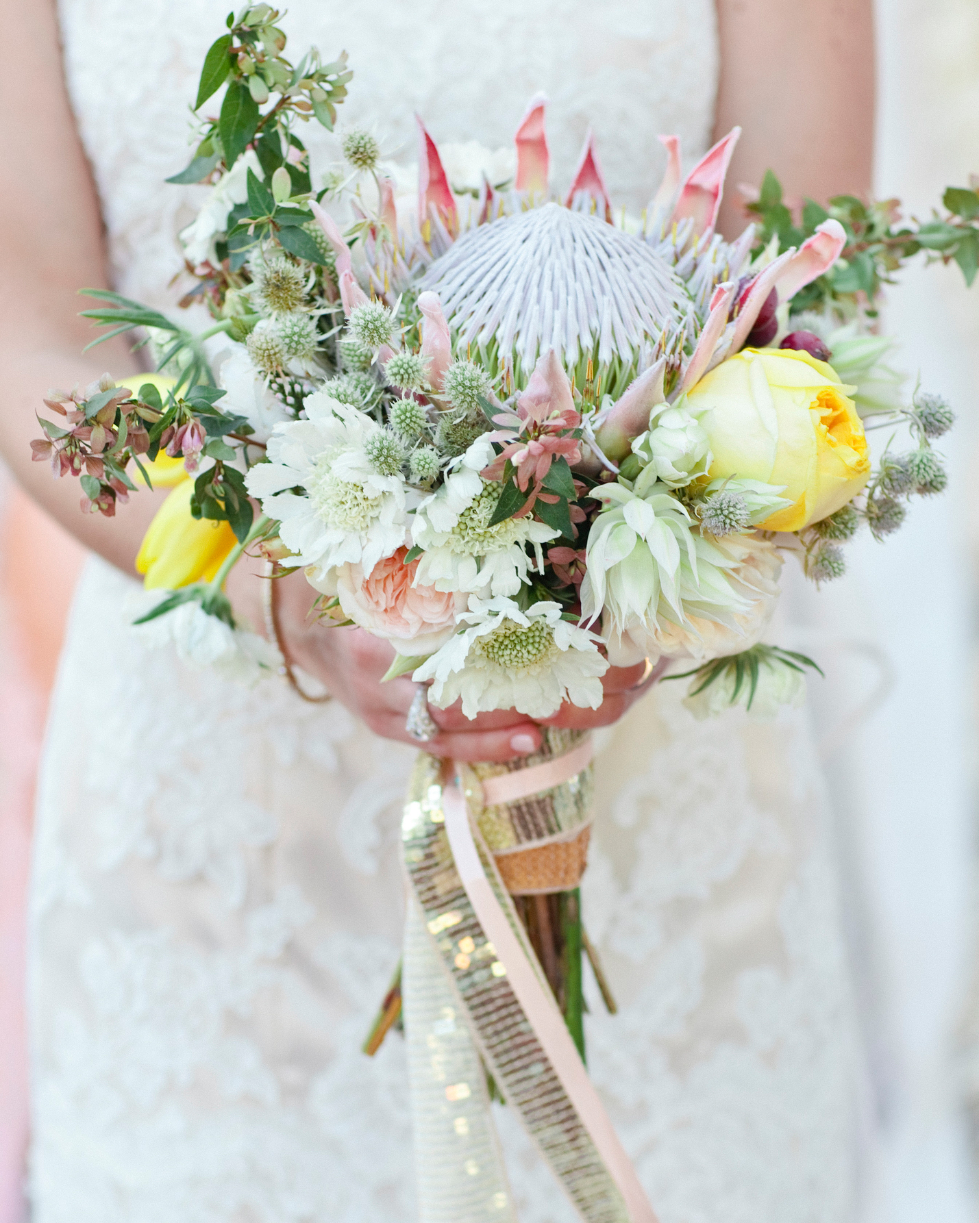 Fun Protea Wedding Bouquet