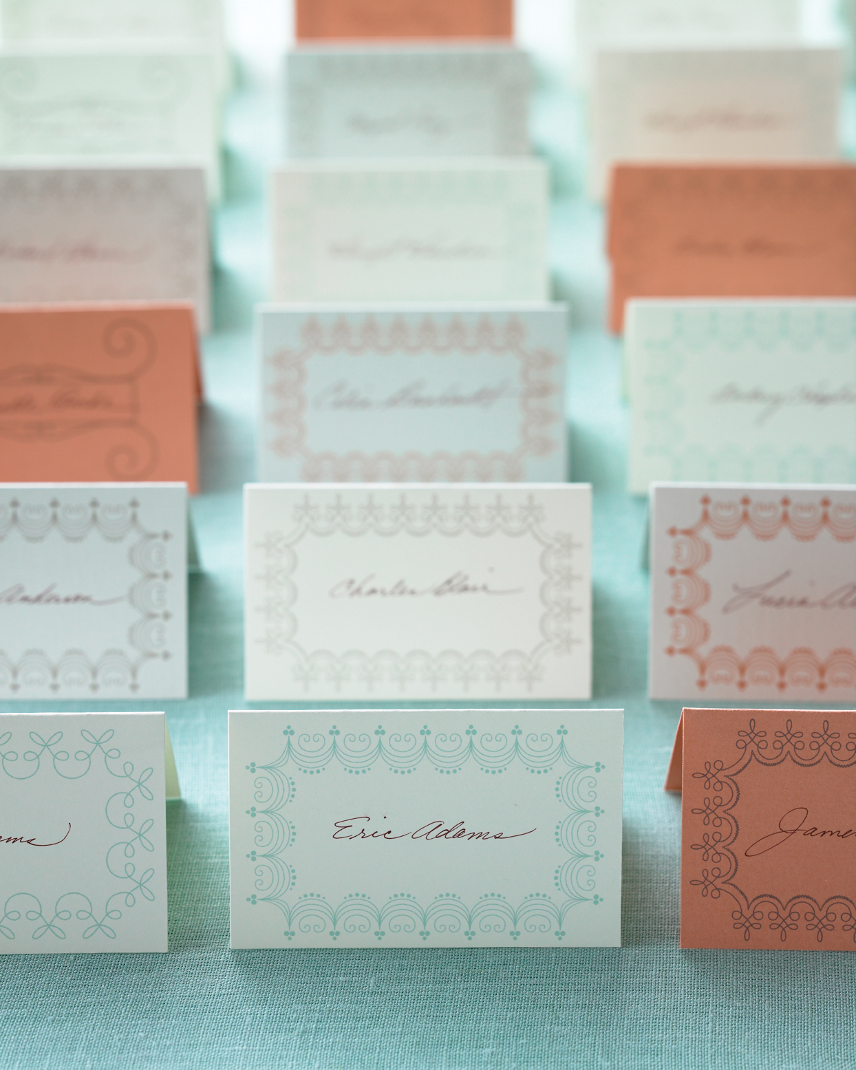 Charming Border Place Cards